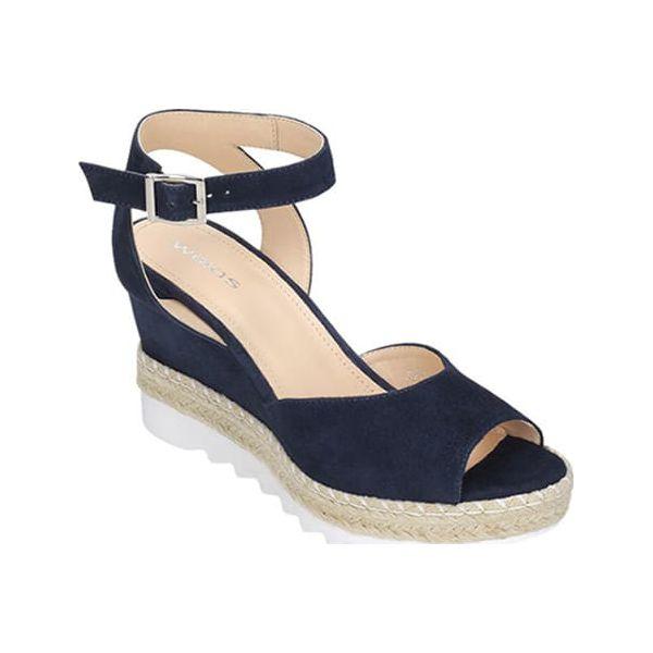 afaa22ba5cd31 Skórzane sandały w kolorze granatowym - Sandały damskie marki Wojas ...
