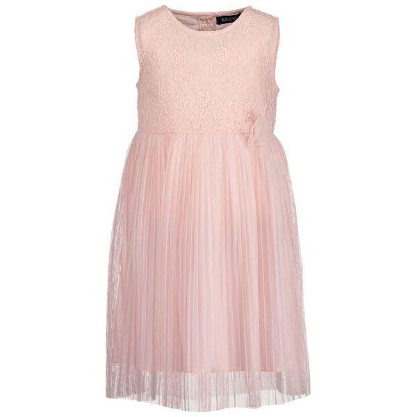01c85bb5 Blue Seven Sukienka Dziewczęca Z Koronką I Plisowaną Spódnicą 110 Różowa