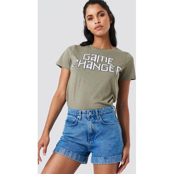 Wspaniały NA-KD Szorty jeansowe z wysokim stanem - Blue - Szorty damskie SA61