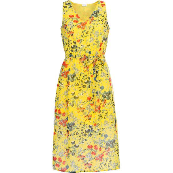 a5992c2c54 Sukienka szyfonowa z nadrukiem bonprix żółty ananasowy z nadrukiem ...