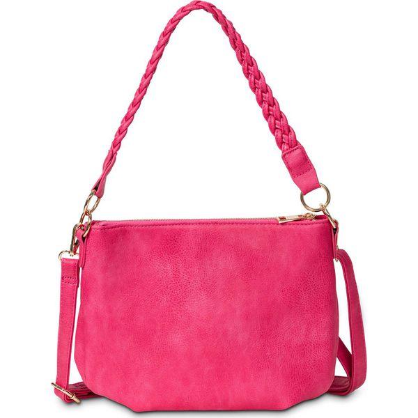 1f87023a2e9a6 Torebka na ramię z plecionym paskiem bonprix różowy hibiskus ...