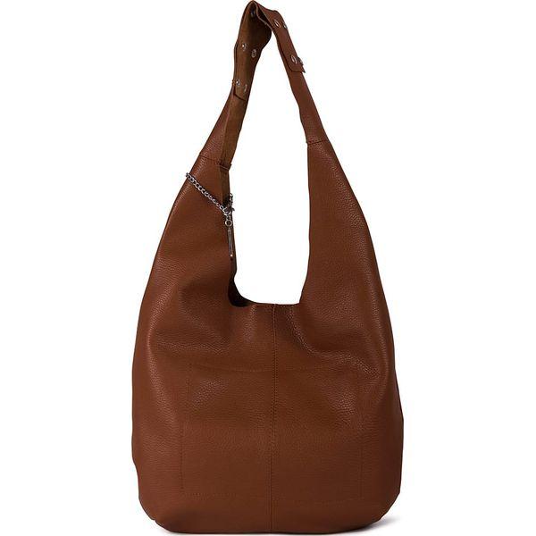d06b2806b2308 Skórzana torebka w kolorze brązowym - 33 x 35 x 10 cm - Torebki klasyczne  damskie marki Anna Morellini. W wyprzedaży za 322.95 zł.
