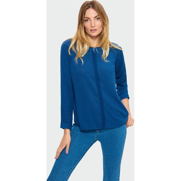 b8fdc40917daf1 Granatowa bluzka z koronką - Bluzki damskie marki Greenpoint. Za ...