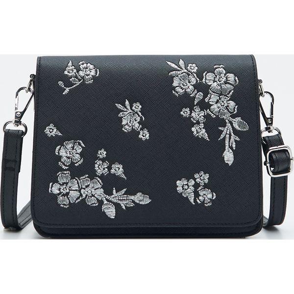 Torba z haftowanymi kwiatami Sinsay Torby i torebki