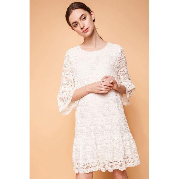 f00c9e4505 Sukienka w kolorze ecru - Sukienki damskie marki ECHO. W wyprzedaży ...