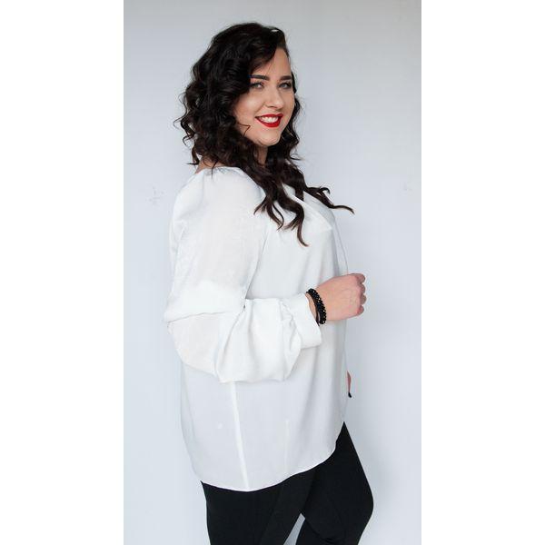 ca30e7eaace823 Ecru bluzka Angela hiszpanka MODA XXL - Bluzki damskie Moda Size ...