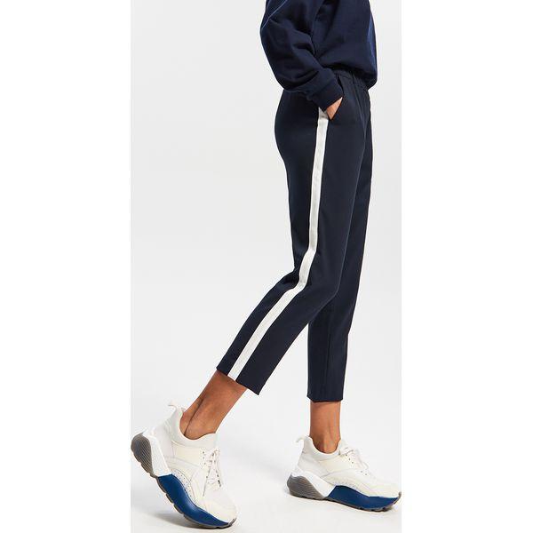 792716673f28fd Spodnie z lampasem - Granatowy - Spodnie materiałowe damskie ...