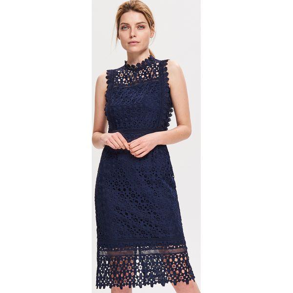 3add930023 Sukienka z gipiury - Granatowy - Sukienki damskie marki Reserved. Za ...