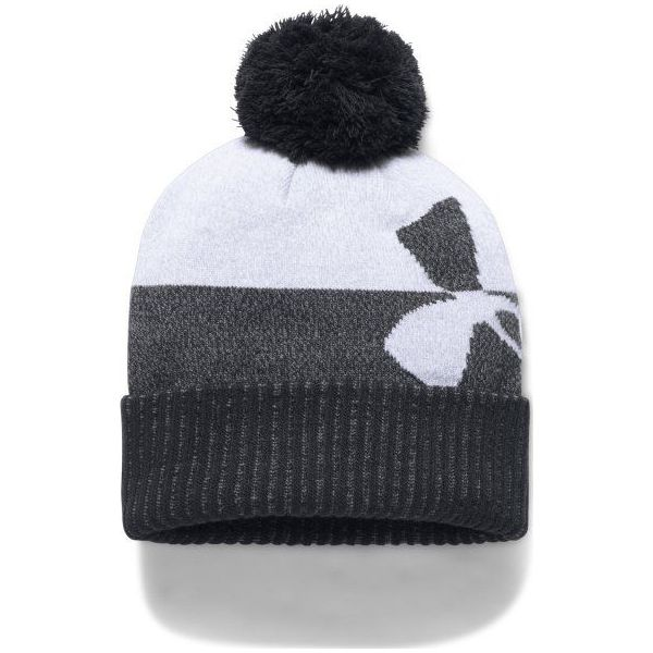 0840815ee Under Armour Czapka Boy's Pom Beanie Upd Red Black Black - Czapki ...