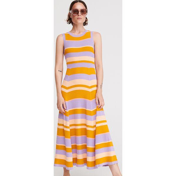 38363f4b4229a2 Dzianinowa sukienka w paski - Wielobarwny - Sukienki damskie ...
