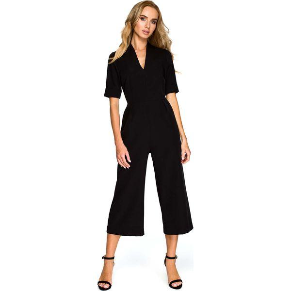 f10d80a2384645 Czarny Elegancki Kombinezon ze Spodniami Typu Culotte - Czarne ...