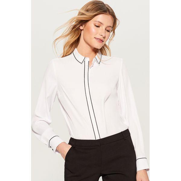 14c8d0783 Koszula z kontrastowym przeszyciem - Biały - Koszule damskie marki ...