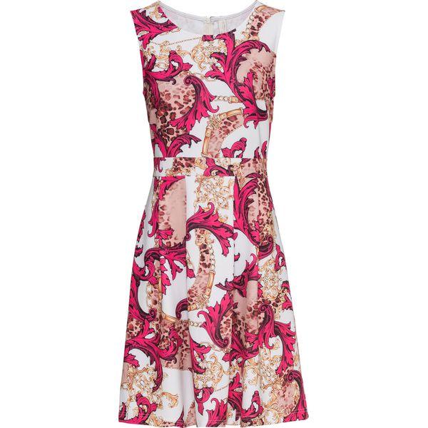 e8d8428589 Sukienka wzorzysta bonprix fuksja - biały wzorzysty - Sukienki ...