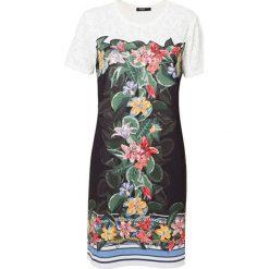 DESIGUAL Kremowy t shirt kolorowe mandale (7 8L)