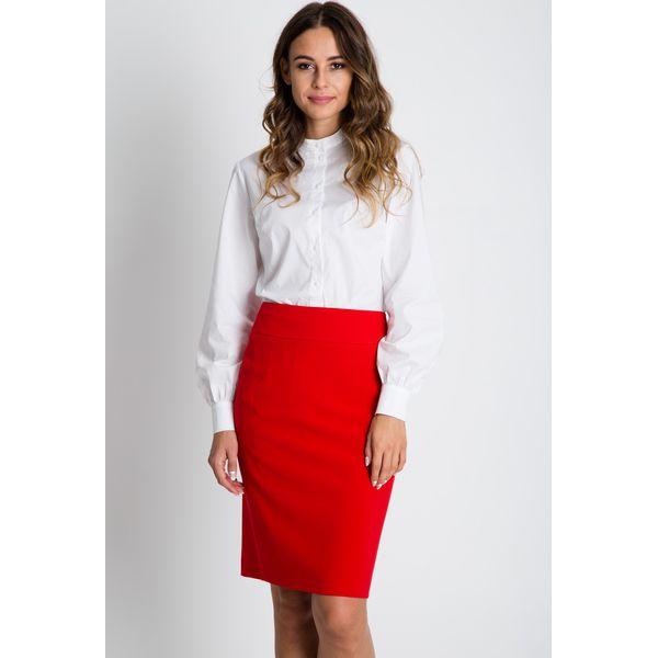 99c02ba8aa Klasyczna ołówkowa spódnica w kolorze czerwonym BIALCON - Spódniczki ...