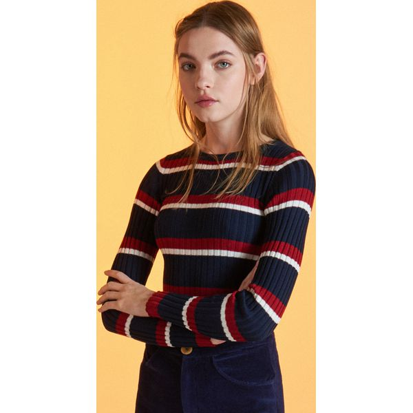 bf2d76873e14 Sweter w paski - Granatowy - Swetry klasyczne damskie marki Cropp ...