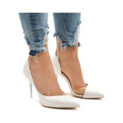 Białe obuwie damskie ButyModne, bez obcasa Kolekcja jesień