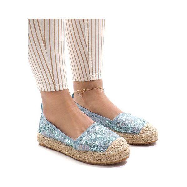 Sandały Espadryle F169 6 Niebieski niebieskie