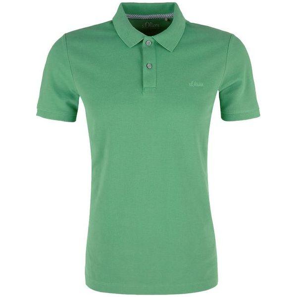 9c4e67fd95f860 S.Oliver Koszulka Polo Męska Xl Zielona - Zielone koszulki polo męskie  S.Oliver, m, bez wzorów, bez ramiączek. W wyprzedaży za 79.00 zł.