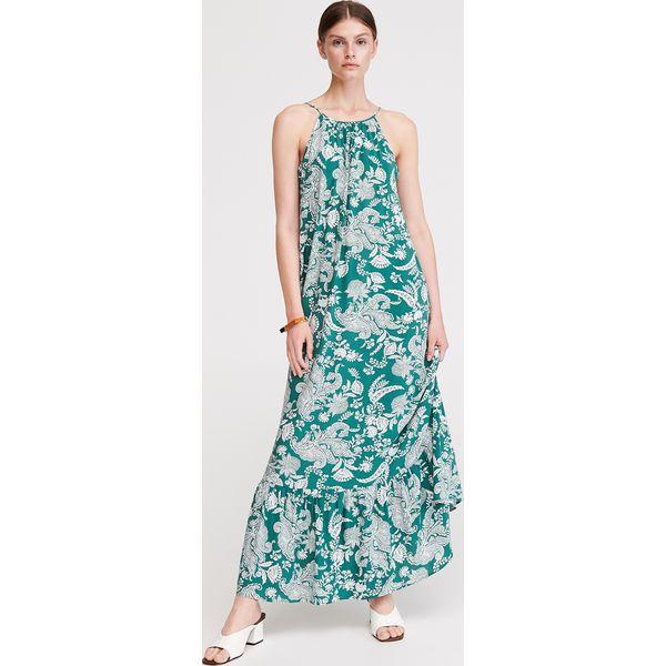 b7ae0761907581 Długa sukienka z dekoltem na plecach - Wielobarwny - Sukienki ...