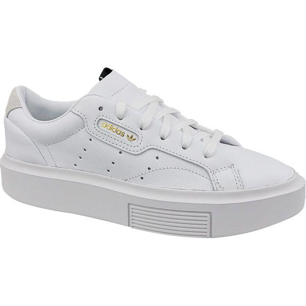 nowy koncept całkiem tania butik wyprzedażowy Buty adidas Sleek Super W EF8858 białe