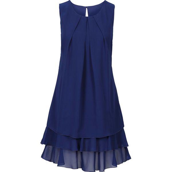7314025197 Sukienka szyfonowa bonprix ciemnoniebieski - Sukienki damskie marki ...