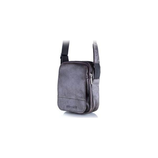 35153b5b9c804 Ciemno brązowa listonoszka męska torba na ramię bl04 - Saszetki ...