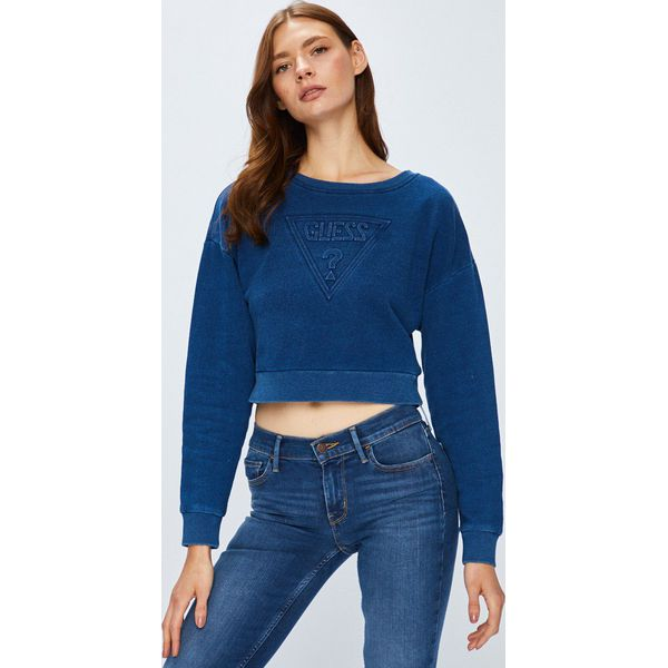 60253fc661169 Guess Jeans - Bluza - Bluzy bez kaptura damskie marki Guess Jeans. W  wyprzedaży za 249.90 zł. - Bluzy bez kaptura damskie - Bluzy damskie -  Odzież damska ...