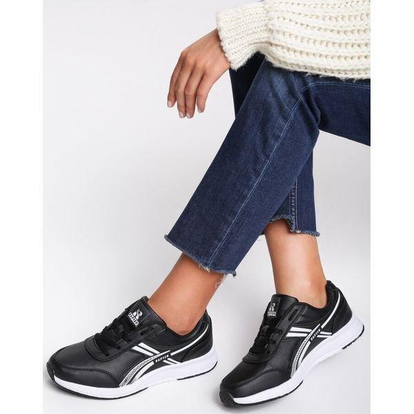 czarne damskie buty sportowe na codzien