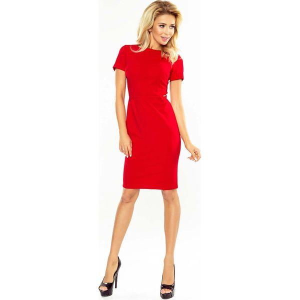 e33aae84a Czerwona Klasyczna sukienka Mini z Krótkim Rękawem - Czerwone ...