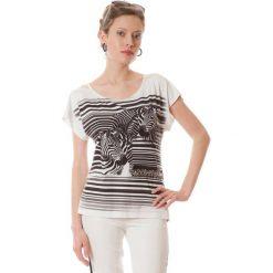 e88eb49438 Bluzka w kolorze czarno-białym ze wzorem. Białe bluzki damskie marki  Semper