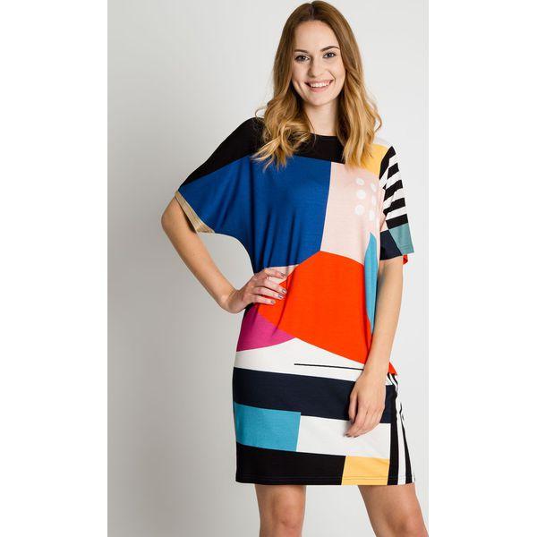 f20f280a99 Luźna sukienka w geometryczne wzory BIALCON - Sukienki damskie marki ...