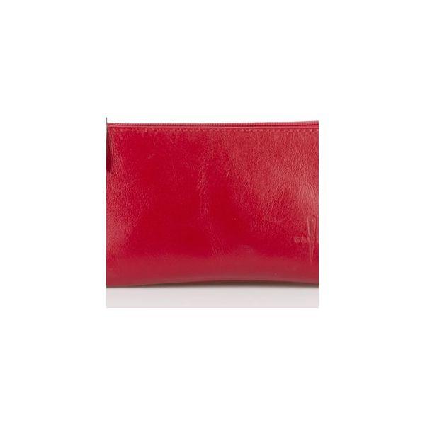 6c87bd871aceb Czerwony skórzany portfel damski - Portfele damskie marki Gawor. Za ...
