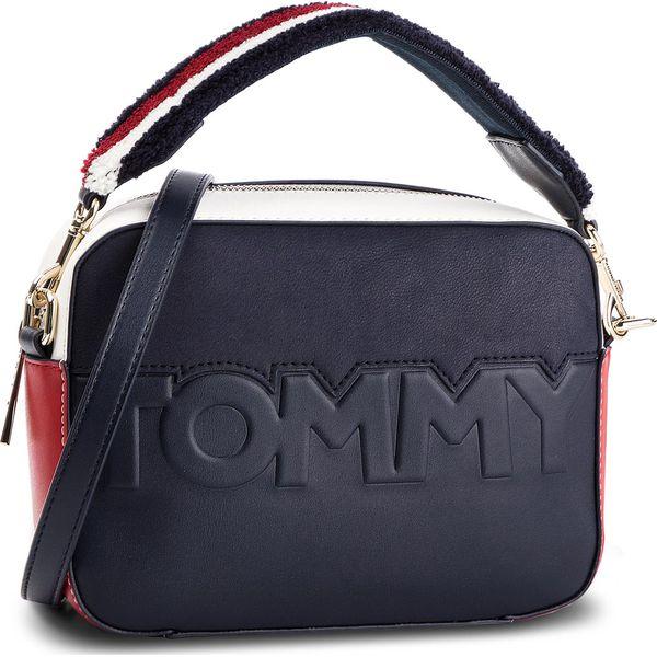 40101cabde4e0 Torebka TOMMY HILFIGER - Tommy Logo Crossover AW0AW05644 901 ...