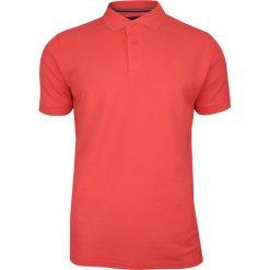 Koralowa, Pomarańczowa Bawełniana Koszulka POLO Adriano Guinari Męska, Krótki Rękaw z Kołnierzykiem TSADGPOLOlivingcoral