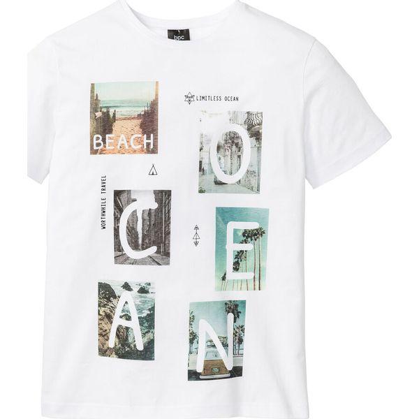 e42565b44 T-shirt z nadrukiem bonprix biały z nadrukiem - T-shirty męskie bonprix. Za  34.99 zł. - T-shirty męskie - T-shirty i koszulki męskie - Odzież męska ...