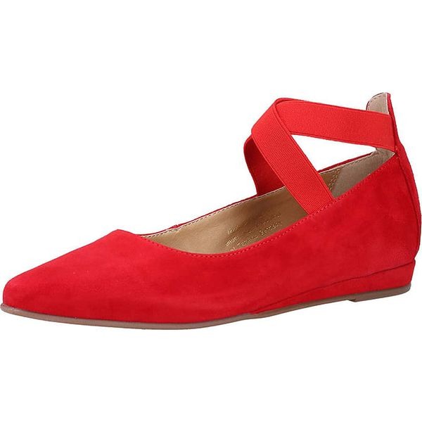 reputable site 44913 8dcfa Skórzane baleriny w kolorze czerwonym