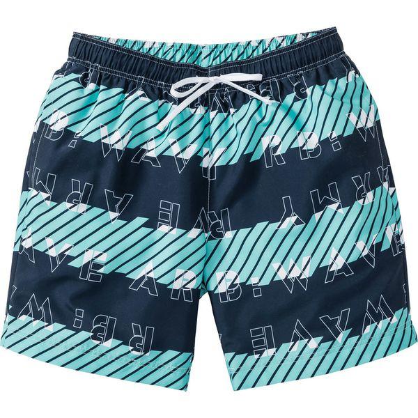 eb4b2f77f0c1b1 Długie szorty plażowe Regular Fit bonprix niebieski wzorzysty ...