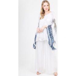 dca6598ab2 Jedwabna tunika w kolorze biało-niebieskim. Tuniki damskie marki Scherrer  Soie. W wyprzedaży