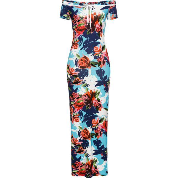 7ff071e161 Sukienka letnia w kwiatowy deseń bonprix niebiesko-czerwony w kwiaty ...