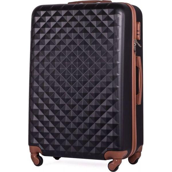 41c74f463dc78 Solier Walizka podróżna stl190 czarna r. L - Czarne walizki męskie ...
