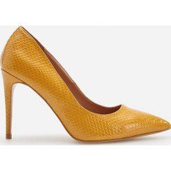 Żółte obuwie damskie Reserved Kolekcja zima 2020 Sklep