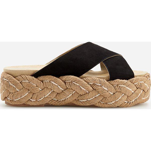 923becd69781a0 Skórzane sandały na platformie - Czarny - Sandały damskie Reserved ...