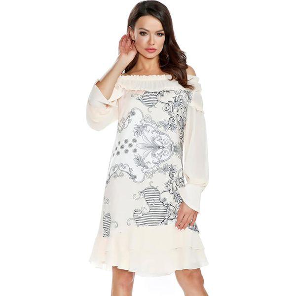 6dd87a362 Sukienka w kolorze kremowym - Białe sukienki damskie Ryłko by Agnes ...