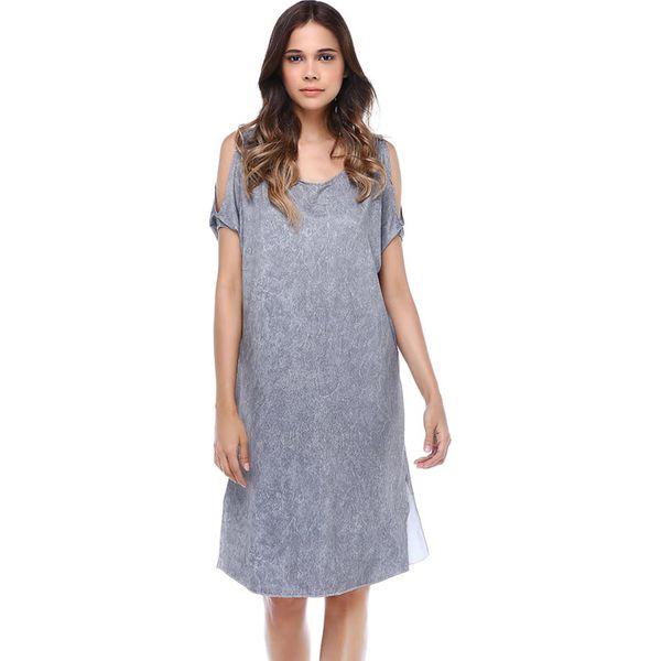 ac8e3f412d Sukienka w kolorze szarym - Sukienki damskie marki Donna Rossa. W ...