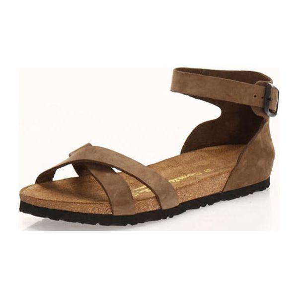 393d71dbe369cf Skórzane sandały w kolorze piaskowym - Sandały damskie Comfortfusse ...