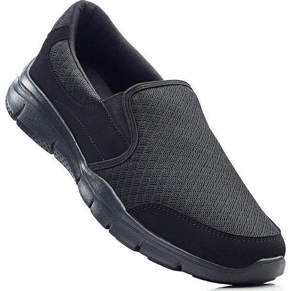 Buty wsuwane z pianką Youfoam bonprix czarny
