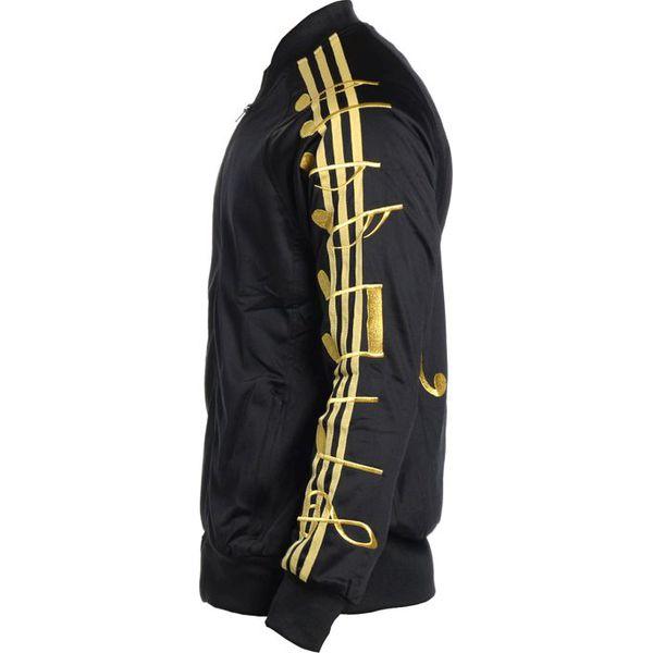 Nowość Adidas Bluza męska Music Note TJ czarno-złota r. M (M66603 UI06