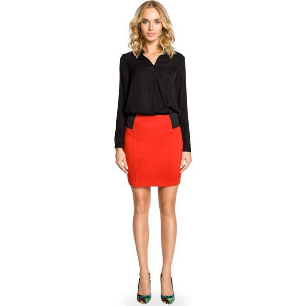 e3c1b53c Czerwona Dopasowana Spódnica Mini z Elastycznymi Wstawkami