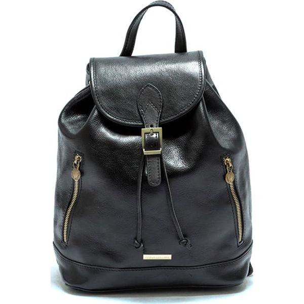 Skórzany plecak w kolorze czarnym (S)32 x (W)36 x (G)14 cm